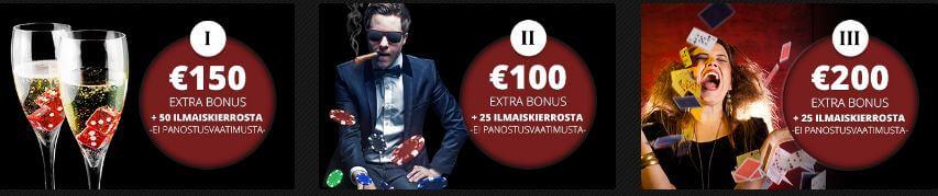casino adneraline tarjoukset bonukset kasinobonus talletusbonus
