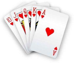 pelikortit pokeri kuningatar jätkä ässä kuningas 10